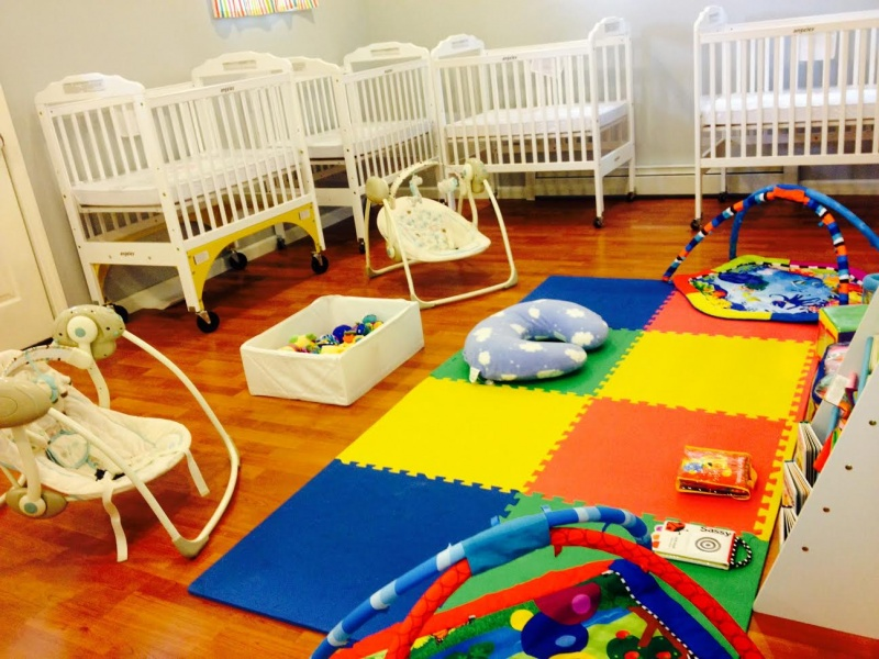 imfant room at little apple preschool