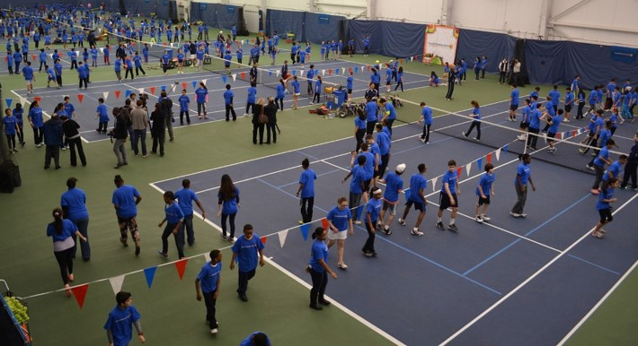 world tennis day world record largest tennis lesson