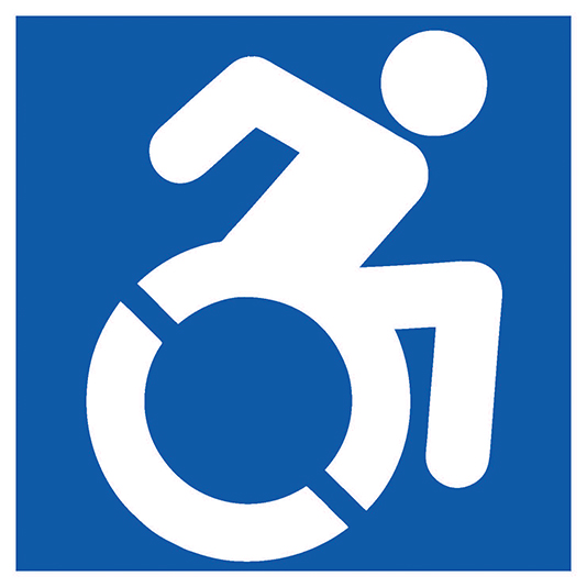 new accessibility wheelchair icon
