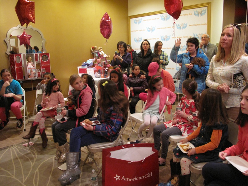 american girl book reading at girl again