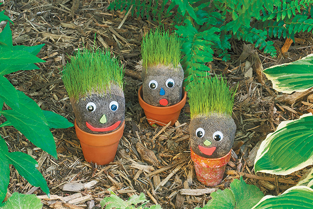 diy grassy garden gnomes