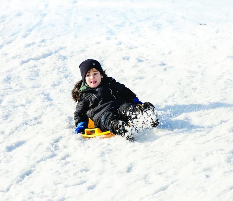 downhill sledding