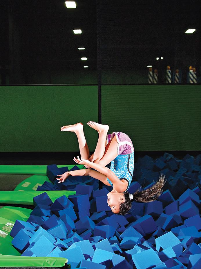 girl doing flip